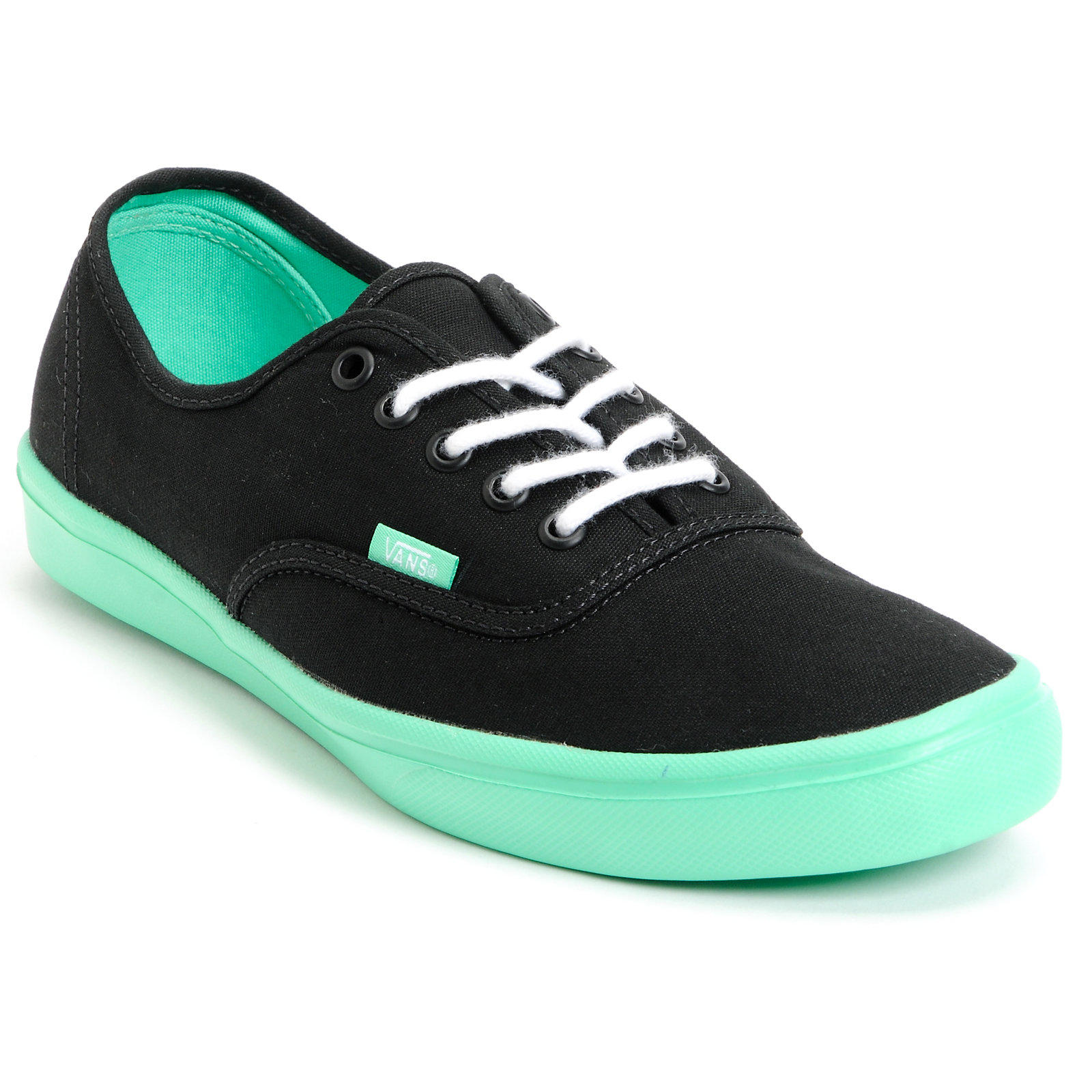 f79d90861401b2 Vans Authentic Lite Black   Green Shoe at from Zumiez