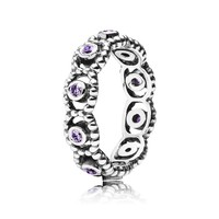 PANDORA Her Majesty Purple CZ Ring - Size 4.5