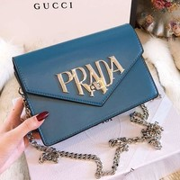 Prada 2018 counter new limited edition Messenger bag shoulder bag chain bag F-BCZ(CJZX)