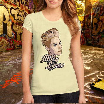 miley_cyrus_new_classic_by_dik_theprince T Shirt Printed T Shirt, Women T Shirt, (Various Color Available)