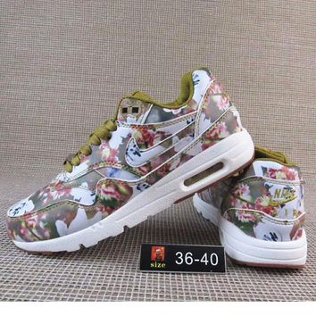 Nike Print Flower Women Men Casual Running Sport Shoes Sneakers Army Green G A36h My