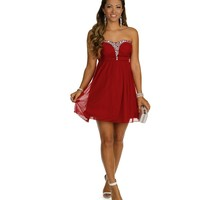 Demi-Red Homecoming Dress