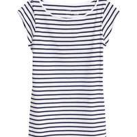 Cap-sleeved Top - from H&M
