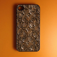 Iphone 4 Case - Carved Wood Print Iphone Case,Iphone 4s Case