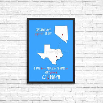 Geeky friend print | going away best friend gift | Best friend long distance present | Always shall be your friend | Custom best friend gift