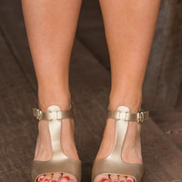 Glitz and Glam Wedges, Gold