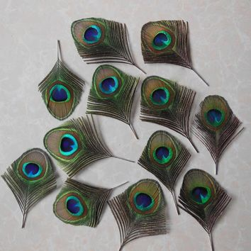 free shipping high quality 50 PCS Natural Peacock Feathers For Sale Costume Centerpieces Peacock Feathers Decor Cheap
