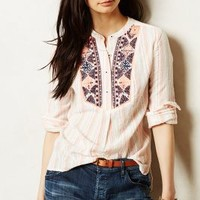 Mesa Peasant Top by Holding Horses Neutral Motif