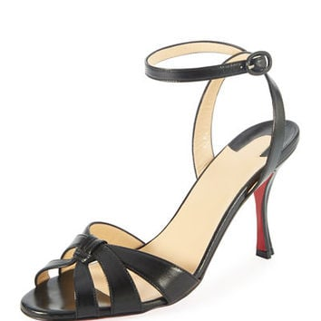Christian Louboutin Trezuma 85mm Leather Red Sole Sandal