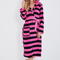 Plush Striped Robe