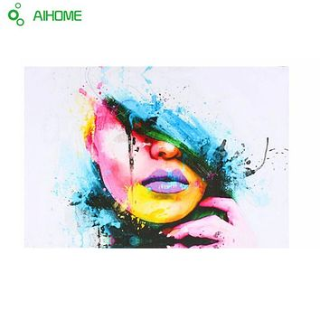 Sexy Women Face Fashion & Modern Canvas Painting Wall Picture Abstract Figures Oil Painting for Living Room Decor