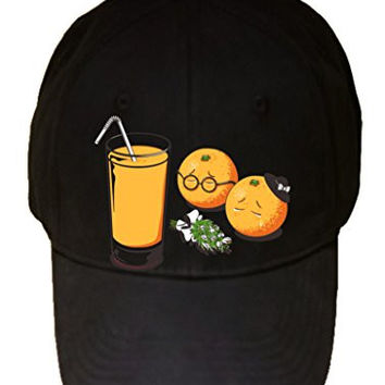 'So Long My Friend' Funny Orange Funeral w/ Glass of Juice - 100% Adjustable Cap Hat