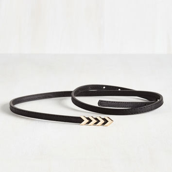 Subtly Stunning Belt in Black | Mod Retro Vintage Belts | ModCloth.com