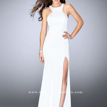 La Femme 24585 High Neck Prom Dress