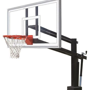 First Team HydroShot Select Adjustable Pool Side Basketball Hoop 60 inch Acrylic