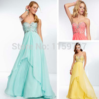 Elegant Yellow Chiffon Dresses Long Formal for Girls Sweetheart Beadwork A Line Long Mint GreenProm Gowns New Arrival Alternative Measures - Brides & Bridesmaids - Wedding, Bridal, Prom, Formal Gown