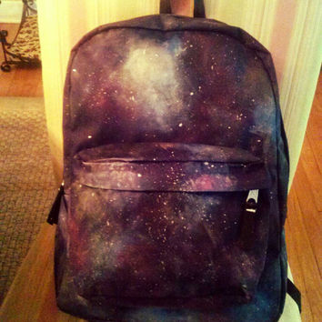 "Hand Painted ""Galaxy"" Hipster Backpack"