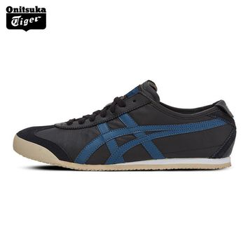qiyif ONITSUKA TIGER High quality MEXICO 66 Unisex Skateboarding Shoes Breathable Leather Woman Sport Shoes Men Sneakers D4J2L