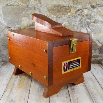 DCK7YE Vintage Esquire Redwood Shoe Shine Box