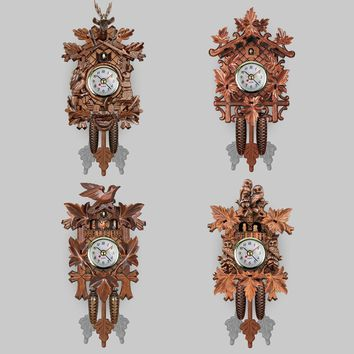 Classical Cuckoo Wall Clock Bird  Time Bell Vintage Chic Swing Alarm Watch Decorations Home Art