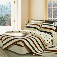 4pcs cotton fashion design printed bedding set mattress cover fitted sheet set duvet cover set
