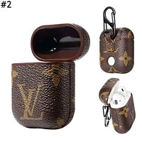 Supreme & GUCCI LV & Burberry Tide brand personality airpods wireless Bluetooth headset set #2