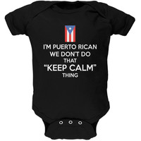 Don't Do Calm - Puerto Rican Black Soft Baby One Piece