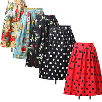 PROMOTION~Victorian Retro Skirt 50s Pinup Swing Vintage Evening Dress