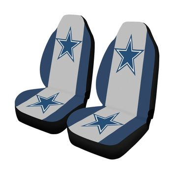 Dallas Cowboys Solid Colors Car Seat Covers (Set of 2)
