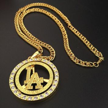 DCCKNY1Q Boys & Men Fashion Hip Hop Diamond LA Necklace