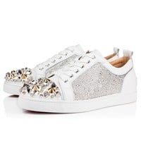 Christian Louboutin Cl 18w Louis Junior Mix Strass Strass Version Snow Sneakers - Best Online Sale