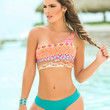 Two Piece Neon Bright Swimsuit For More Coverage-Swimwear