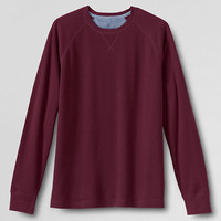 Men's Long Sleeve Solid Waffle Crew from Lands' End