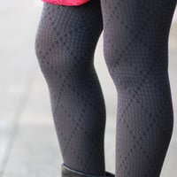 Diamond Daze Tights {Black}