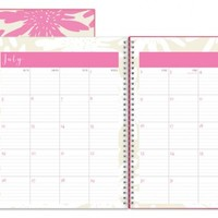 July 2015 - June 2016 Susy Jack Blomma Clear Cover Weekly/Monthly Planner 8.5x11