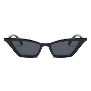 Retro Kitty Cat Sunglasses - Black