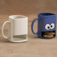 UN PAINTED  Cookie Monster Mug Cup - You paint it - bisque only.