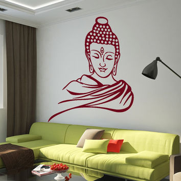 Buddha Head Vinyl Wall Decal