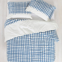 Assembly Home Hand-Drawn Grid Duvet Cover - Urban Outfitters