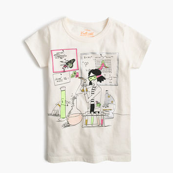 crewcuts Girls Olive In Her Science Lab T-Shirt