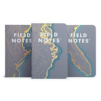 FIELD NOTES COASTAL: WEST THREE 48-PAGE MEMO BOOKS