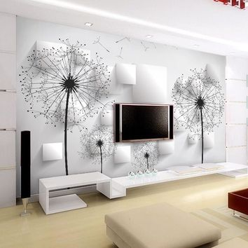 Custom Photo Wallpaper 3D Stereoscopic Dandelion Wall Painting Bedroom Living Room TV Background Wall Mural Wallpaper Home Decor
