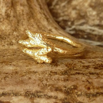 Budding Branch Band - 14k Gold