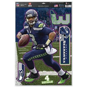 RUSSELL WILSON SEATTLE SEAHAWKS MACBOOK LAPTOP REMOVABLE REUSABLE DECALS NEW