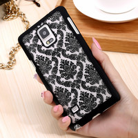 FLOVEME Brand New Beautiful Floral Henna Paisley Mandala Palace Flower Phone Cases Cover For Samsung Galaxy Note 4 Note4 IV Capa
