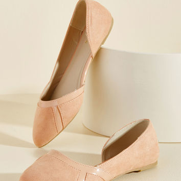 This Too Shall Sass Flat in Sand | Mod Retro Vintage Flats | ModCloth.com