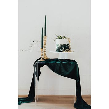 Emerald Velvet Table Runner