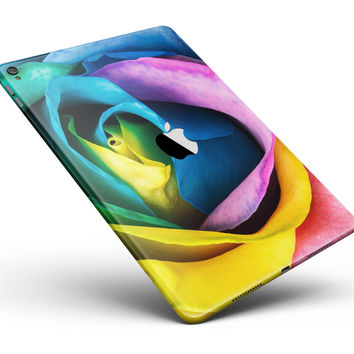 """Rainbow Dyed Rose V3 Full Body Skin for the iPad Pro (12.9"""" or 9.7"""" available)"""