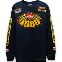 The Hundreds Grand Prix Laps Long Sleeve T-Shirt - Mens Tee - Blue