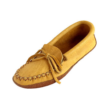 Women's Moosehide & Bison Leather Moccasins
